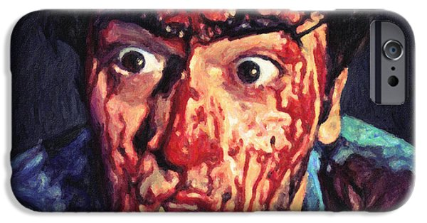 Portrait Of Evil iPhone Cases - Ash Williams iPhone Case by Taylan Soyturk