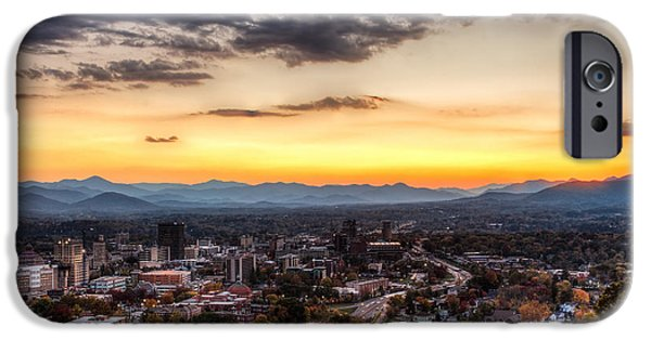 Asheville iPhone Cases - Asheville From Above iPhone Case by Walt  Baker