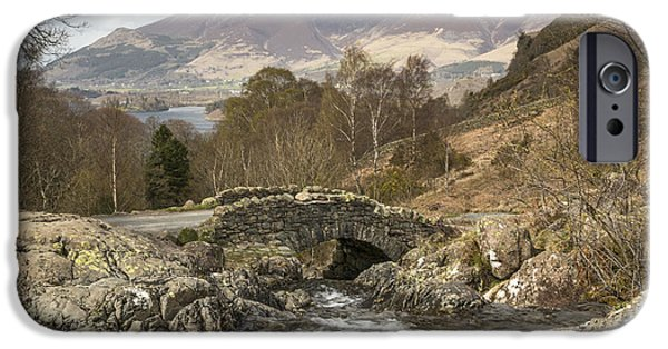 Built Structure iPhone Cases - Ashness Bridge, The English Lake District iPhone Case by David Henderson