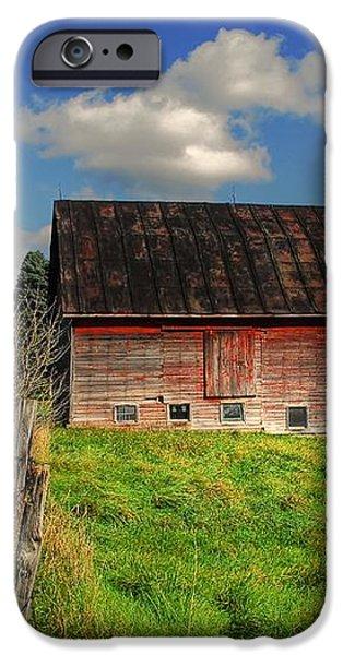 Ashtabula County Barn iPhone Case by Tony  Bazidlo