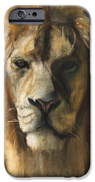 Lion iPhone Cases - Asiatic Lion iPhone Case by Mark Adlington