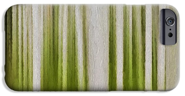 Abstract Digital Photographs iPhone Cases - Aspen Forest iPhone Case by Ken Smith