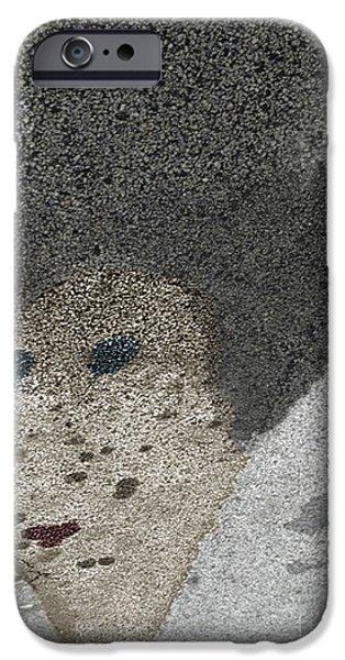 Asphalt iPhone Cases - Asphalt Nefertiti iPhone Case by Lyric Lucas
