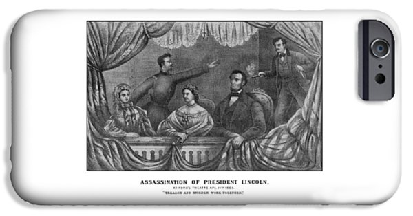 President iPhone Cases - Assassination of President Lincoln iPhone Case by War Is Hell Store