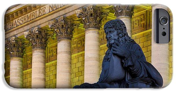 Politician iPhone Cases - Assemblee Nationale - Paris iPhone Case by Brian Jannsen