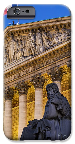 Politician iPhone Cases - Assemblee Nationale - Paris II iPhone Case by Brian Jannsen