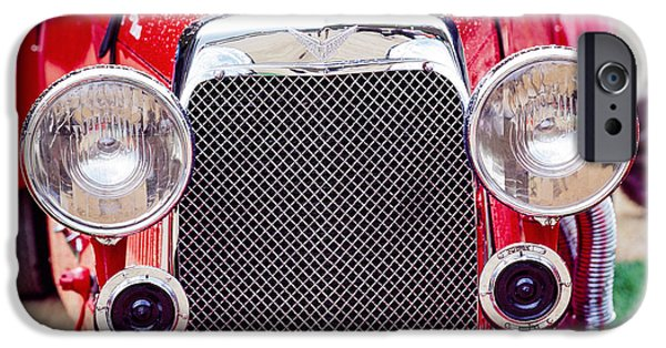 Vintage Car Pyrography iPhone Cases - Aston Martin Classic Vintage . iPhone Case by Cyril Jayant