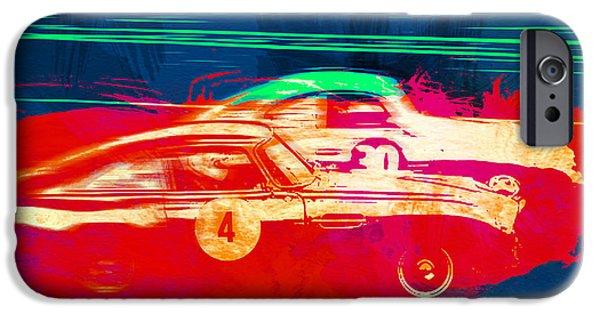 Racing Photographs iPhone Cases - Aston Martin vs Porsche iPhone Case by Naxart Studio