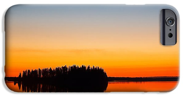 Reflecting Trees iPhone Cases - Astotin Sunset iPhone Case by Ian MacDonald