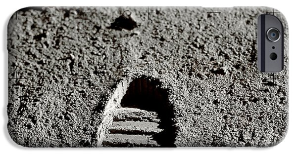 Moon Walk iPhone Cases - Astronaut Footprints On The Moon iPhone Case by Detlev Van Ravenswaay