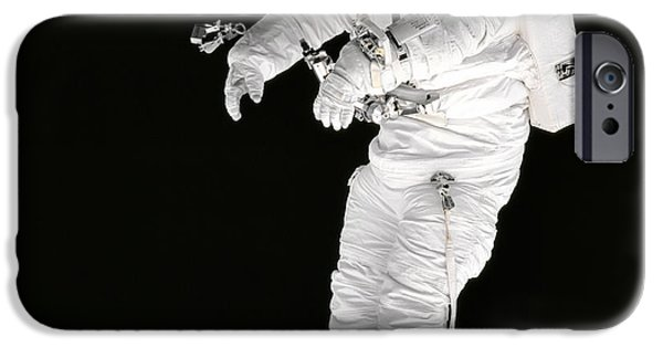 Space-craft iPhone Cases - Astronaut in Deep Space iPhone Case by The  Vault - Jennifer Rondinelli Reilly