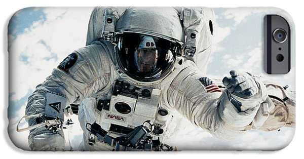 Astronomy iPhone Cases - Astronaut iPhone Case by Nasa