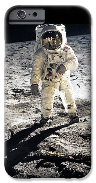 Flight iPhone Cases - Astronaut iPhone Case by Photo Researchers