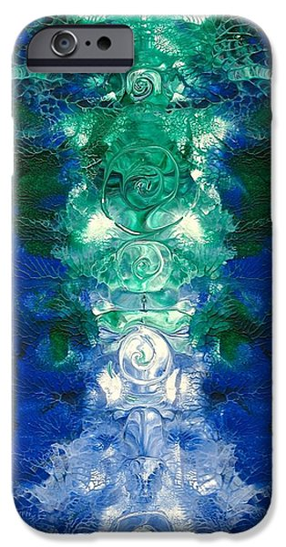 Recently Sold -  - Abstract Forms iPhone Cases - Asymmetrical Spirals iPhone Case by Jenn Delfs