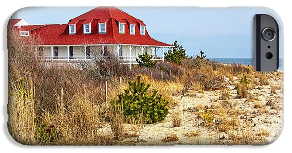 Buildings By The Ocean iPhone Cases - At Cape May Point iPhone Case by Carolyn Derstine
