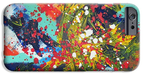 4th July Paintings iPhone Cases - At Play iPhone Case by Kate Ely