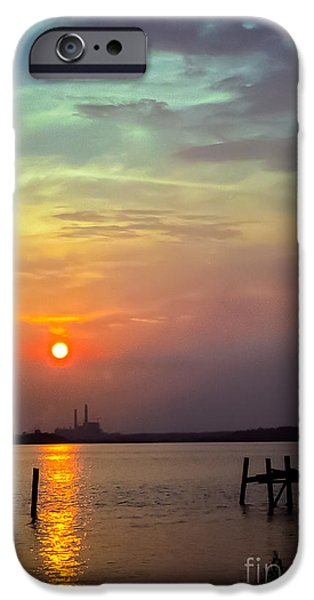 Cabin Window iPhone Cases - At Pops Ferry Bridge iPhone Case by Robert Frederick