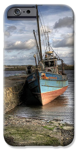 Trawler iPhone Cases - At rest iPhone Case by Marion Galt