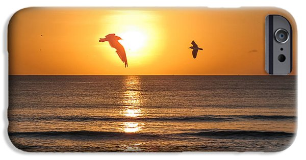 Beach Photographs iPhone Cases - At sunrise iPhone Case by Zina Stromberg