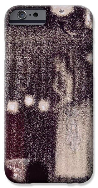 Bands On Stage iPhone Cases - At the Eden Concert iPhone Case by Georges Pierre Seurat