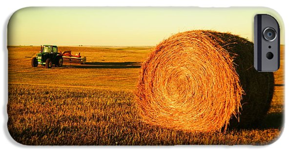Hayfield iPhone Cases - At the end of day iPhone Case by Jeff  Swan