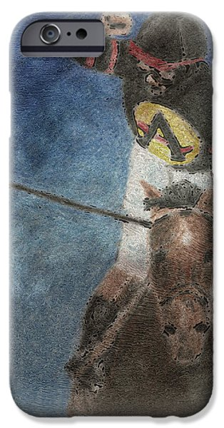 Horse Racing iPhone Cases - At The Finish Line iPhone Case by Arline Wagner
