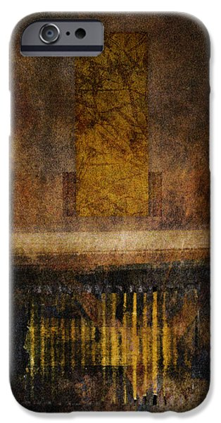 Torn Digital iPhone Cases - At the Gate Photomontage iPhone Case by Carol Leigh