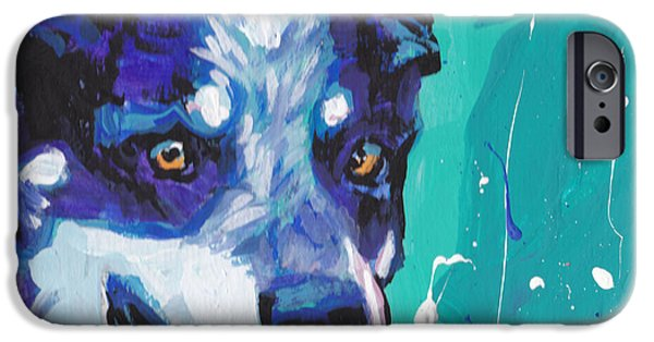 Cattle Dog iPhone Cases - At the Heel iPhone Case by Lea