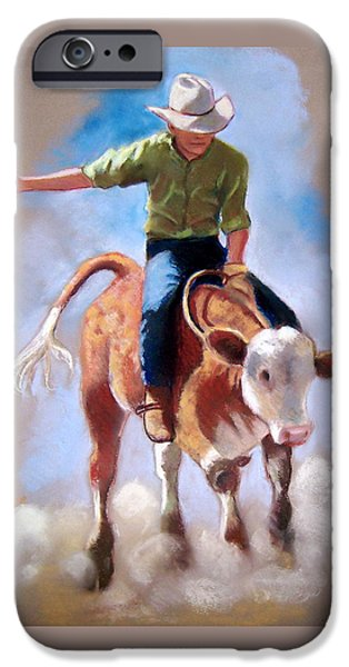 At The Rodeo iPhone Case by Joyce Geleynse