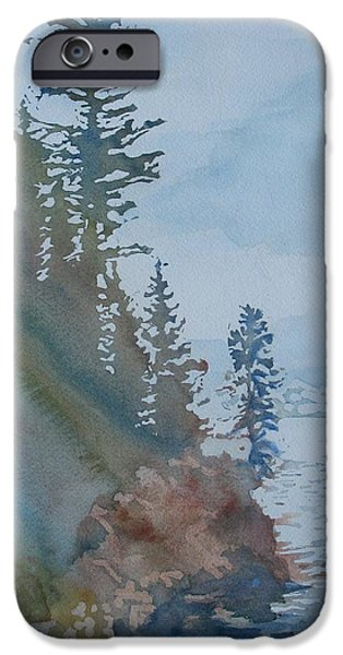 Waterscape Paintings iPhone Cases - At The Waters Edge iPhone Case by Jenny Armitage