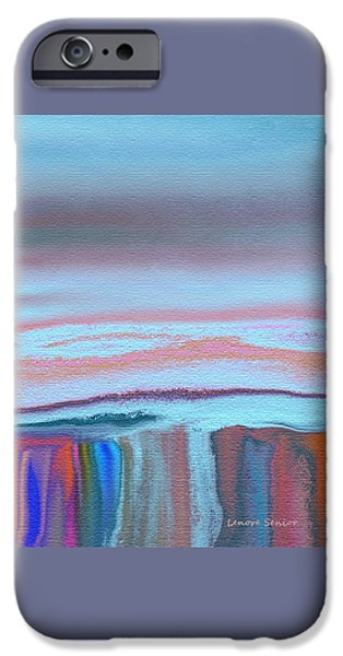 Abstract Digital Paintings iPhone Cases - At the Waters Edge iPhone Case by Lenore Senior