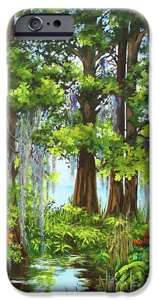 Swamp iPhone Cases - Atchafalaya Swamp iPhone Case by Dianne Parks