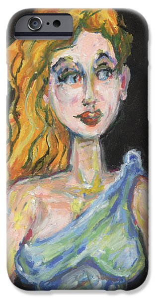 War Pastels iPhone Cases - Athena Goddess of War iPhone Case by Derrick Hayes