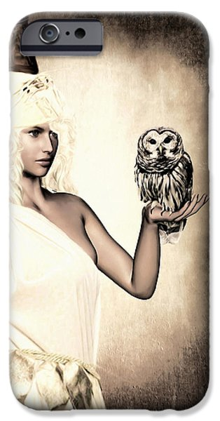 Athens iPhone Cases - Athena iPhone Case by Lourry Legarde