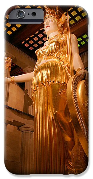 Athena with Nike iPhone Case by Kristin Elmquist