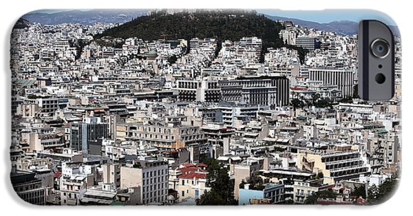 Greek School Of Art iPhone Cases - Athens City View iPhone Case by John Rizzuto