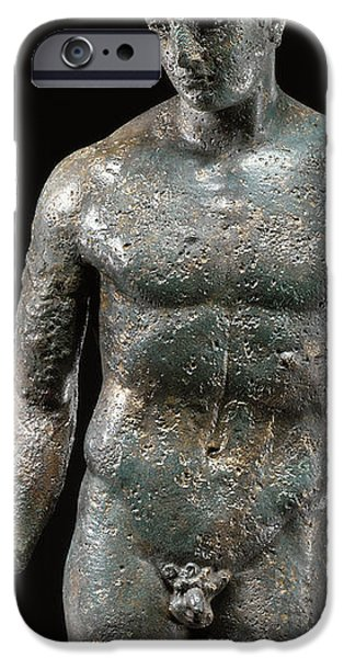 Figure Sculptures iPhone Cases - Athlete iPhone Case by Roman School