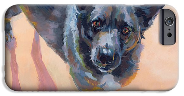 Cattle Dog iPhone Cases - Atira iPhone Case by Kimberly Santini