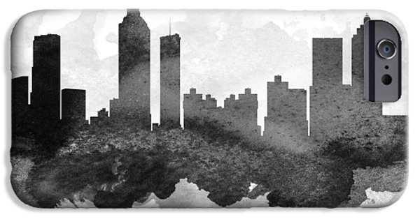 iPhone Cases - Atlanta Cityscape 11 iPhone Case by Aged Pixel