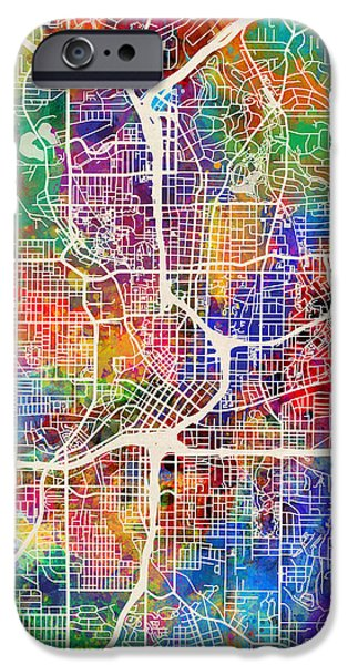 Recently Sold -  - United States iPhone Cases - Atlanta Georgia City Map iPhone Case by Michael Tompsett