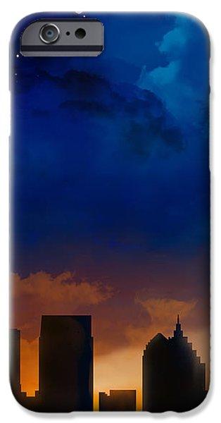 Building iPhone Cases - Atlanta Georgia Night Skyline iPhone Case by Marlene Watson