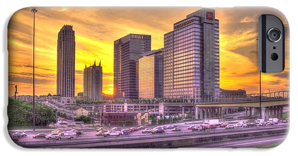 Power iPhone Cases - Atlanta Midtown Atlantic Station Sunset iPhone Case by Reid Callaway