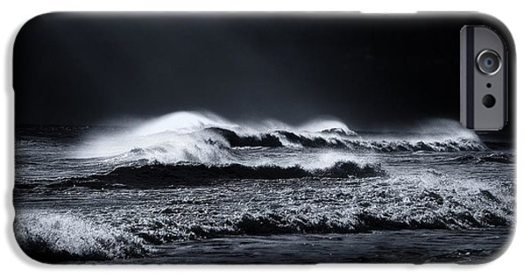 Sun Rays Digital iPhone Cases - Atlantic Ocean iPhone Case by Dapixara Art
