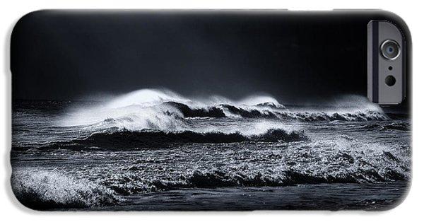 Sun Rays Digital Art iPhone Cases - Atlantic Ocean iPhone Case by Dapixara Art