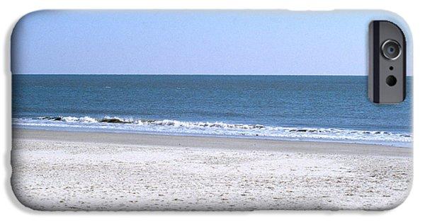 Beach Landscape iPhone Cases - Atlantic Ocean In New Jersey iPhone Case by John Kaprielian