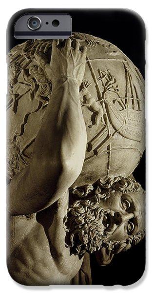 Sculptures iPhone Cases - Atlas iPhone Case by Roman School