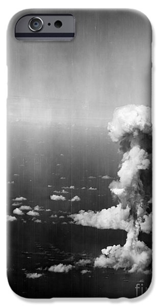 Bombing iPhone Cases - Atomic Bomb Test, 1946 iPhone Case by Granger