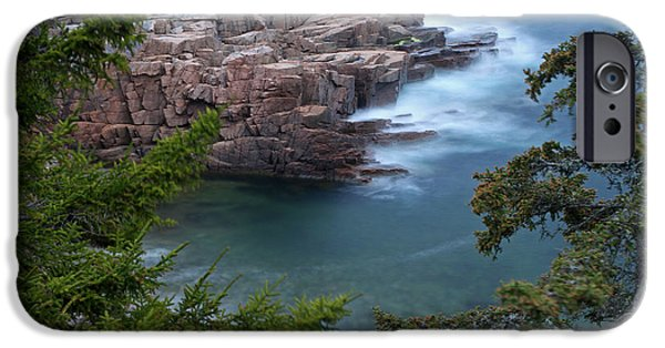 Maine Roads iPhone Cases - Atop of Maine Acadia National Park Monument Cove  iPhone Case by Juergen Roth