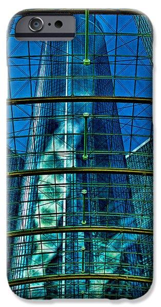 Atrium GM Building Detroit iPhone Case by Chris Lord