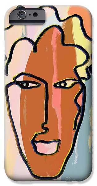 Abstract Digital Drawings iPhone Cases - Attraction   Copyright Theo J Huckins 2015  TJH_1048a_004bc iPhone Case by Theo J Huckins